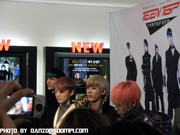 TeenTop Transform Fan-Signing 1/30/2011