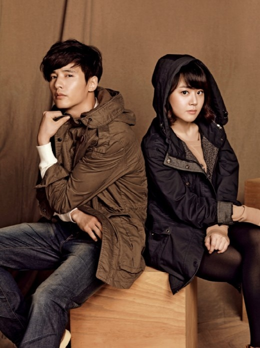 Won Bin and Moon Geun Young in Sporty Couple Clothing