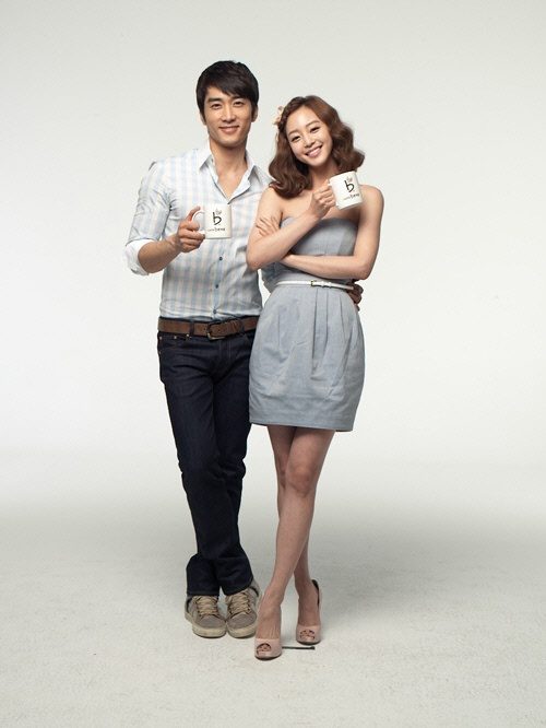 Han Ye Seul and Song Seung Hun Film for New Cafe Commercial
