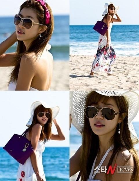 Park Han Byul's Stylish Beach Look