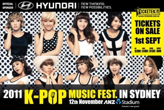"Special Performances Prepared for ""2011 K-Pop Music Fest in Sydney"""