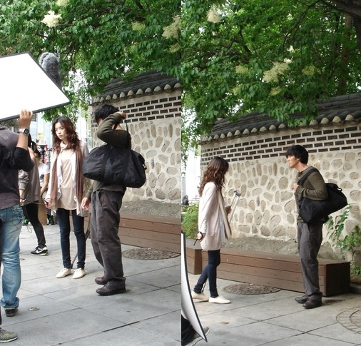 """Picture of So Ji Sub on the Set of """"Only You"""""""