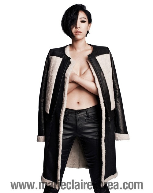 Ga In of Brown Eyed Girls Takes Her Top Off for Marie Claire