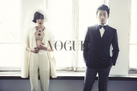"""Love Fiction"" Stars Ha Jung Woo and Gong Hyo Jin Couple Up in Vogue"