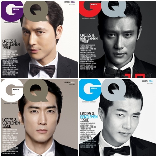 Four Hot Actors Grace the Cover of GQ Korea