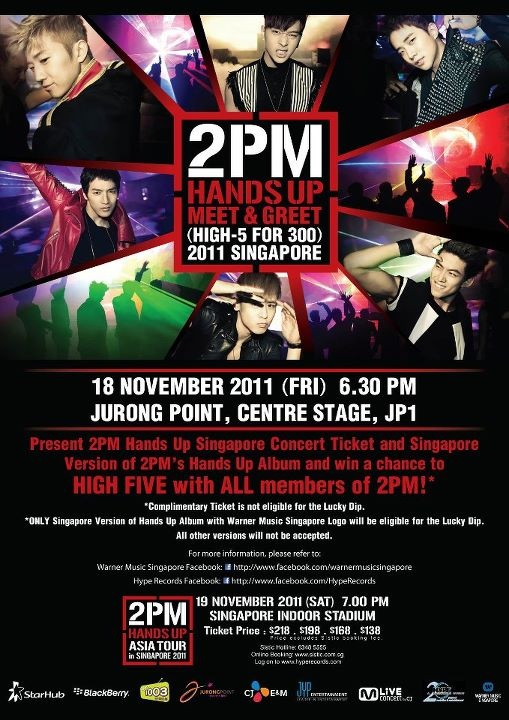 "2PM's ""Hands Up"" Meet & Greet ""High 5 for 300"" in Singapore"
