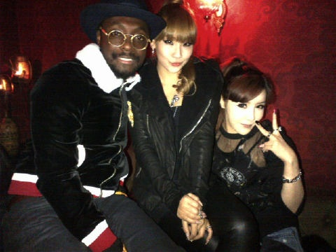 Will.i.am Parties and Works with 2NE1 in Seoul