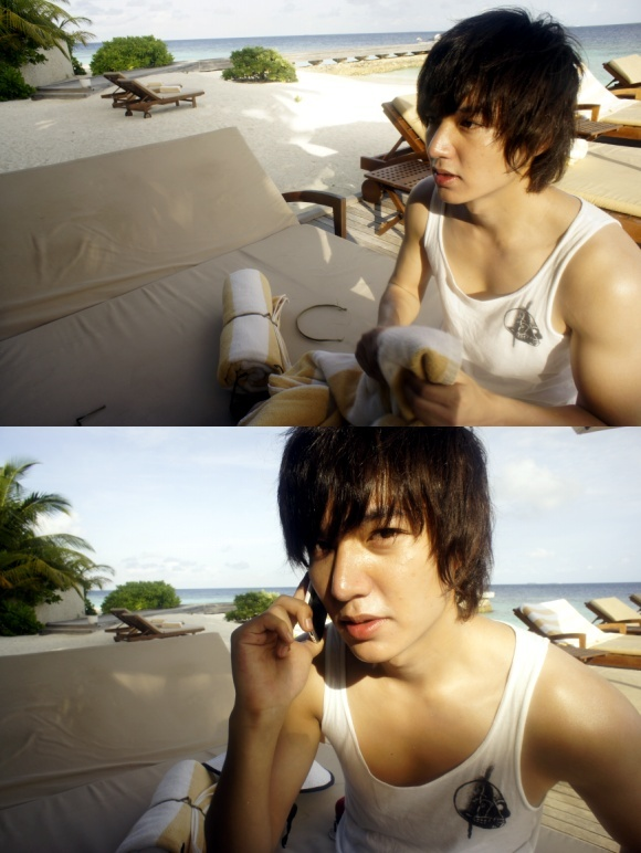 Lee Min Ho Updates With Vacation Pictures