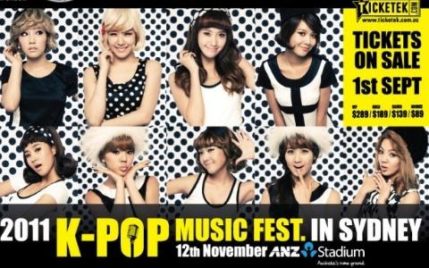 """2011 K-Pop Music Fest in Sydney"" Ramps Up Promotions"