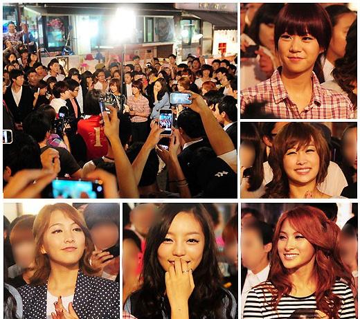 Crowd of Kara Fans Cause Street Blockage