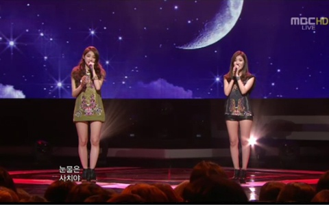 "Davichi has Music Core Comeback Performance With ""I Will Think of You"""