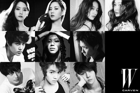 SNSD, SHINee, f(x), EXO Unveil BTS Videos from W Magazine Photo Shoot