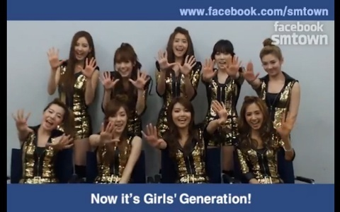 SNSD and f(x) Promote SM Town's Facebook Page