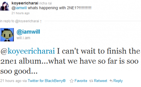 Teaser for Will.I.Am Talking About 2ne1 with tvN