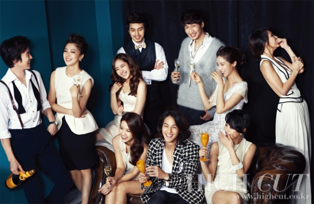 """Kim Sun Ah, Lee Dong Wook, Kim Bum and Other King Kong Entertainment Stars Celebrate the New Year on """"High Cut"""""""
