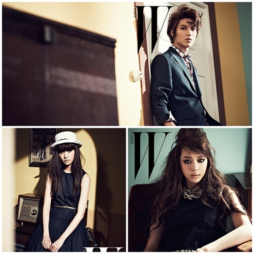 YoonA, Taemin, Sulli, and EXO for W Korea