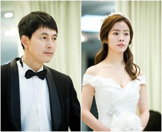 Jung Woo Sung and Han Ji Min's Wedding Photos for Padam Padam