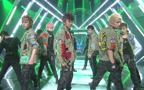 """B.A.P Performs """"Power"""" on Inkigayo"""
