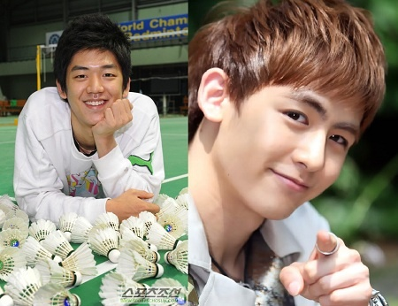 "2PM's Nichkhun Battles Badminton Champ Lee Yong Dae on ""We Got Married"""