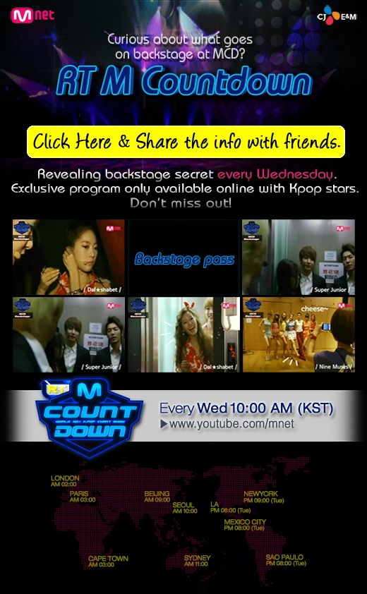 """Mnet Premieres """"RT M! Countdown"""" on YouTube"""