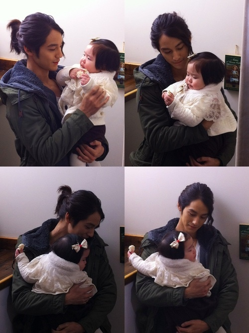 "Kim Bum Holding a Baby from ""Padam Padam"""