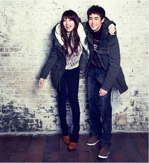 Nichkhun and Suzy Pose Together for EDWIN