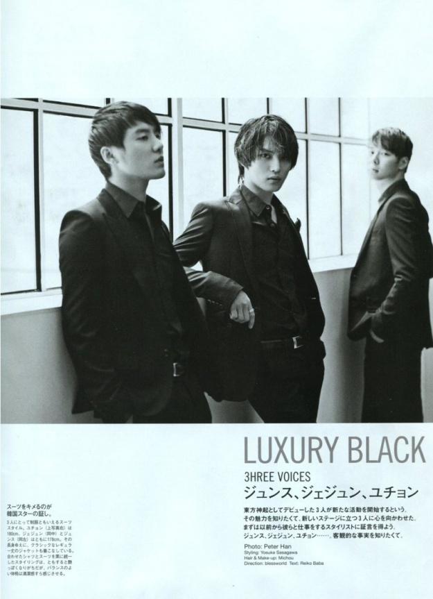 JYJ Featured In Popeye Magazine