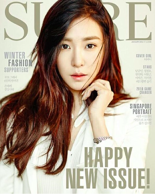 Tiffany de Girls' Generation se transforma en un ángel de invierno como la chica de portada de SURE