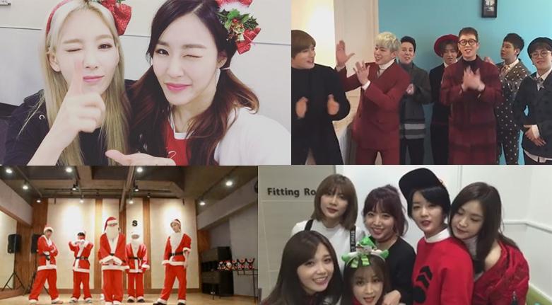 Idols del K-Pop comparten sus saludos por Navidad