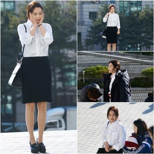 """Shin Min Ah es fuerte en el frío para grabación de """"Oh My Venus"""""""