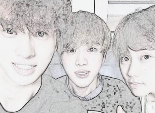 Ken de VIXX, Jin de BTS y Sandeul de B1A4 presumen de su amistad en redes sociales