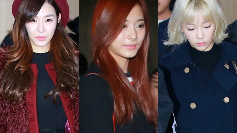 Girls' Generation y TWICE impresionan con su invernal moda de aeropuerto