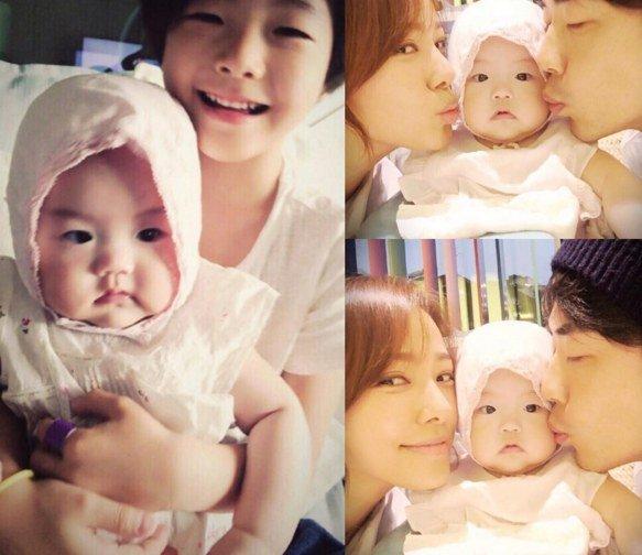 Kwon Sang Woo y Son Tae Young celebran el primer cumpleaños de su hija Ri Ho