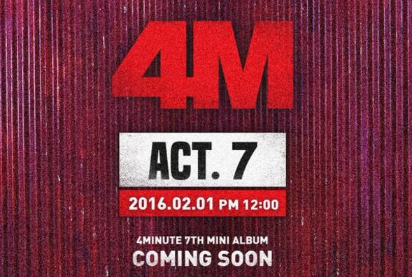 4Minute fija la fecha para su regreso y lanza imagen teaser