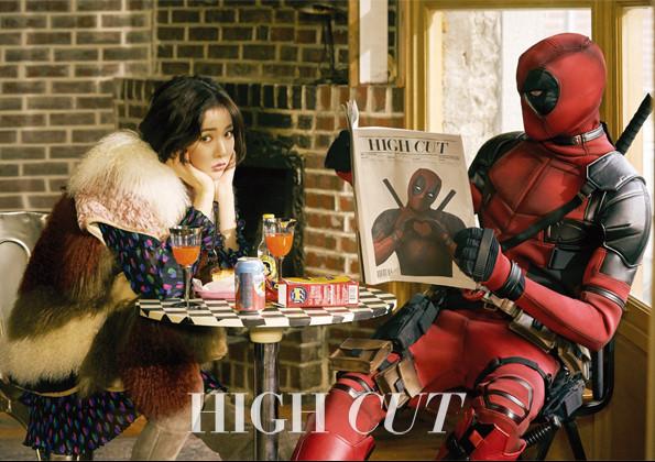 """HyunA de 4Minute derrite el corazón de Deadpool en sesión para """"High Cut"""""""