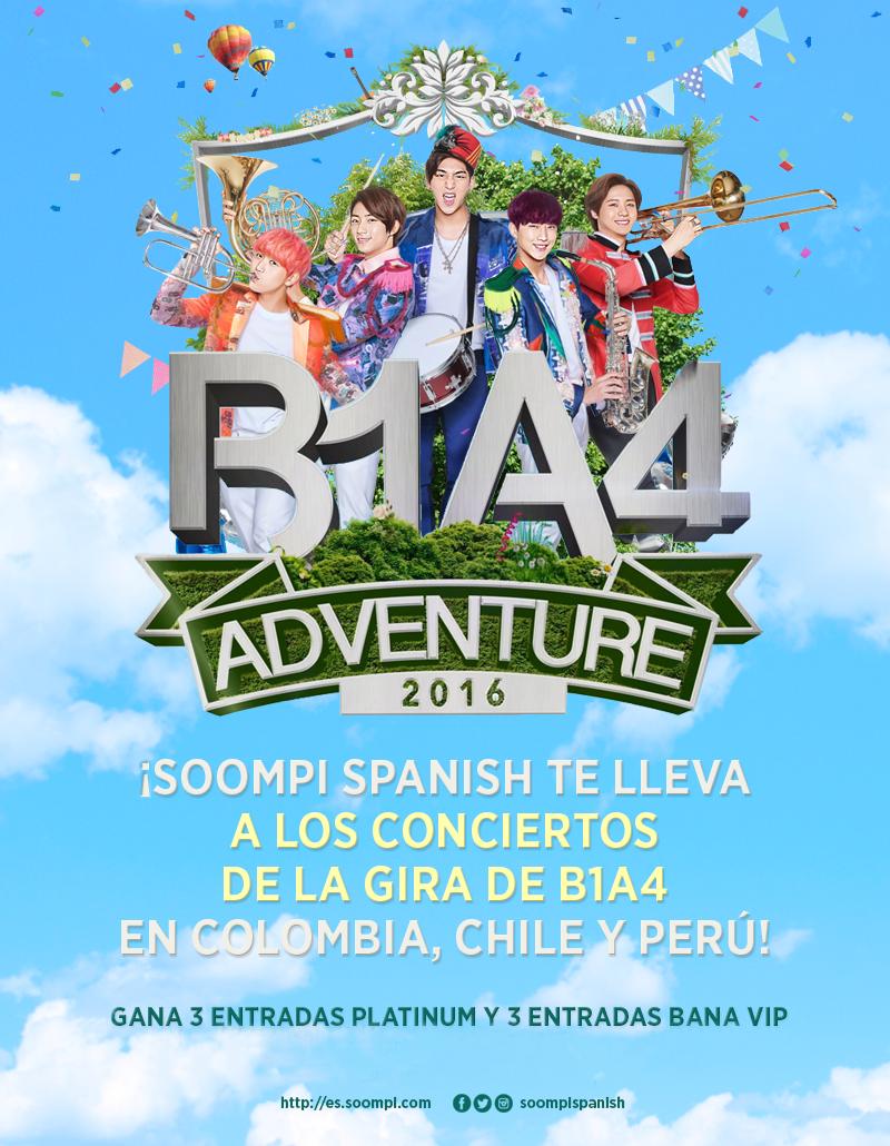 [CONCURSO] ¡Gana entradas para los conciertos de B1A4 en América del Sur!