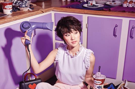 Park So Dam es dulce en sesión de fotos para Elle y Häagen-Dazs