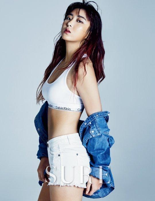 Sohyun de 4minute muestra su sensual y tonificada figura para la revista SURE