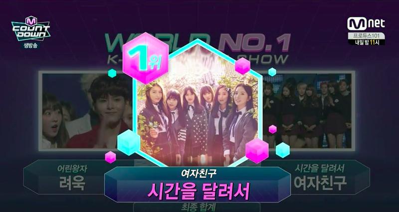 """GFRIEND gana con """"Rough"""" + Actuaciones de 4Minute, WINNER y más en """"M!Countdown"""""""