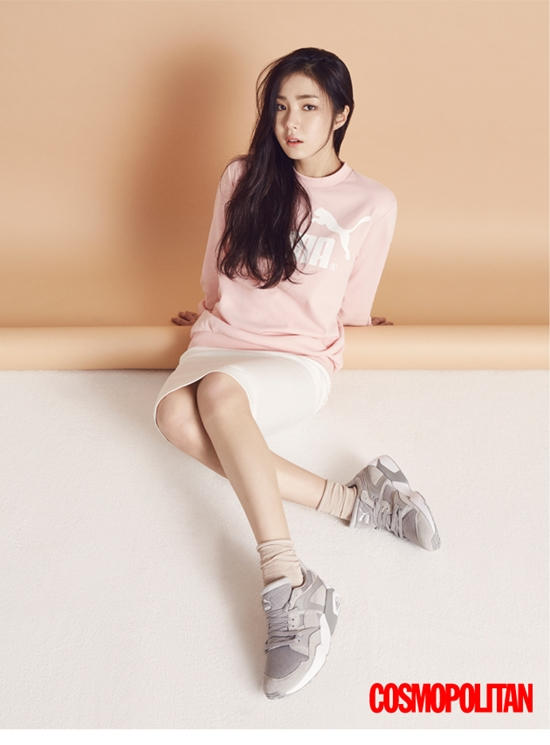 Shin Se Kyung se muestra coqueta en ropa deportiva en sesión para Cosmopolitan