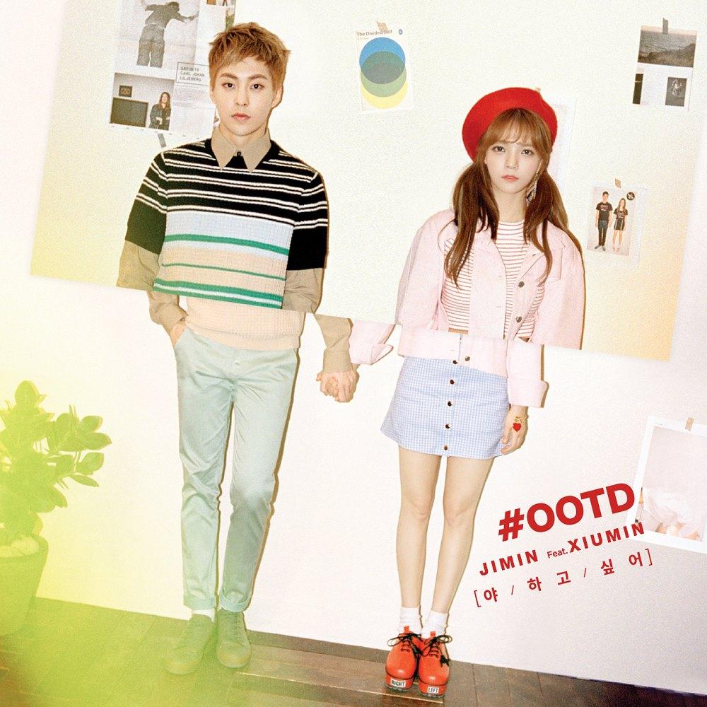 """El dueto """"Call You Bae"""" de Jimin de AOA y Xiumin de EXO en el primer lugar de las listas"""