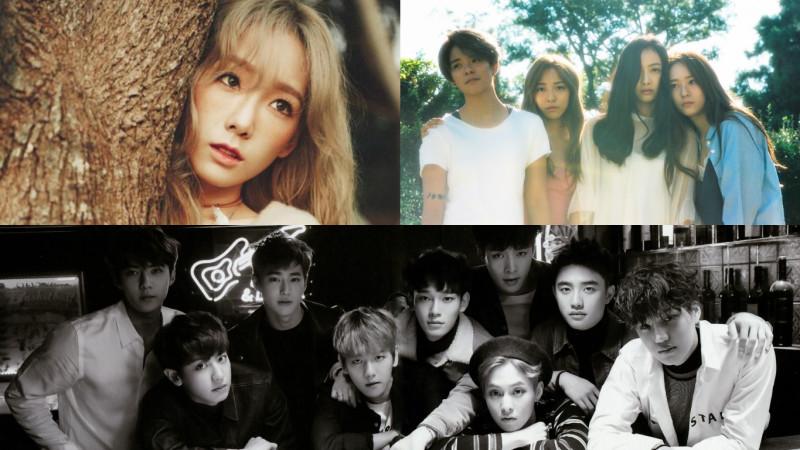 SM Entertainment en la primera posición de la lista Gaon para venta de álbumes físicos y digitales en el cuarto trimestre del 2015