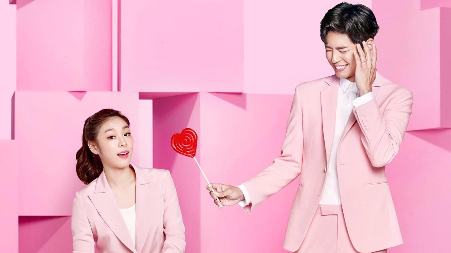 Kim Yuna y Park Bo Gum se visten de rosa para nueva sesión de fotos con J.ESTINA
