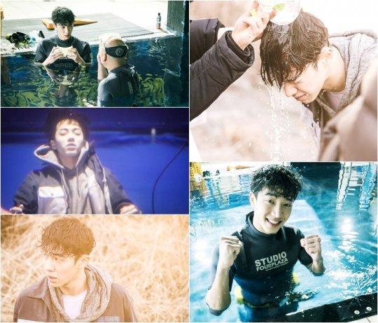 """Lee Gi Kwang de BEAST se enfrenta al agua fría en escenas para """"Monster"""""""