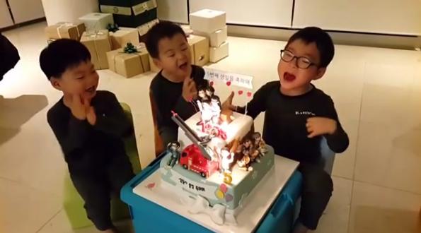Los trillizos Song celebran sus cumpleaños con Song Il Gook en video de Instagram