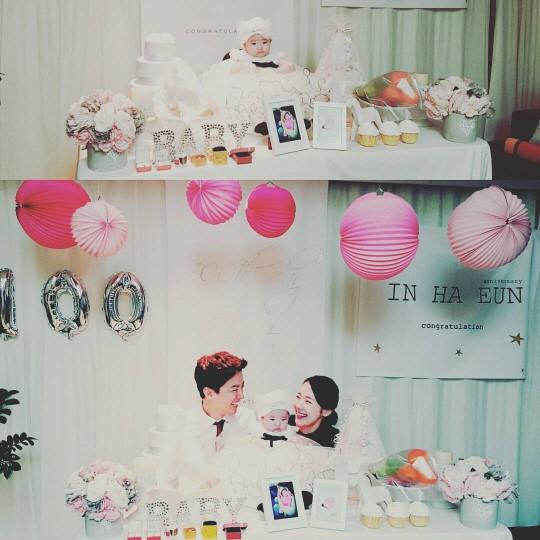 So Yi Hyun e In Gyo Jin celebran los primeros 100 días de su hija