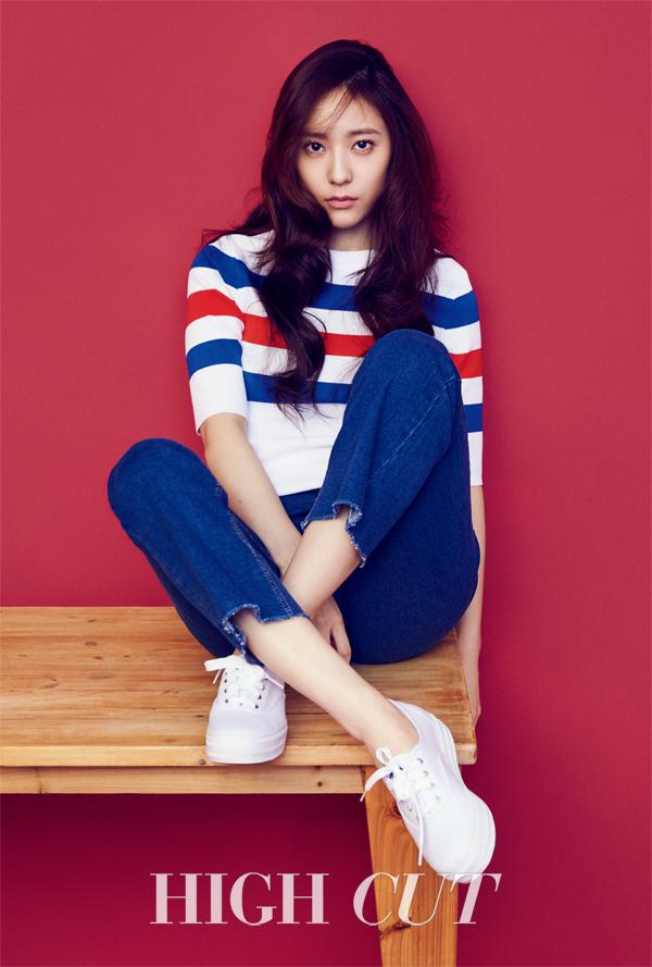 """Krystal de f(x) luce encantadora para la revista """"High Cut"""""""