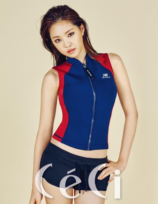 Son Na Eun con un look sensual y deportivo para Ceci