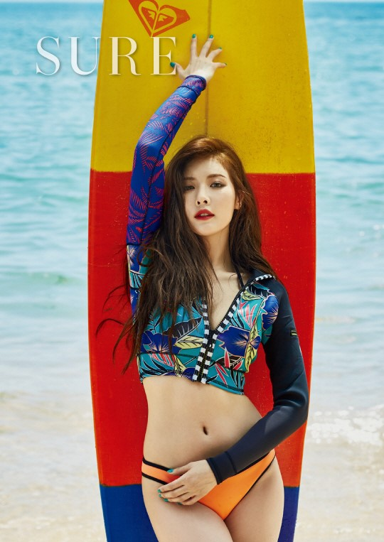 HyunA luce perfecta en la playa para la revista SURE