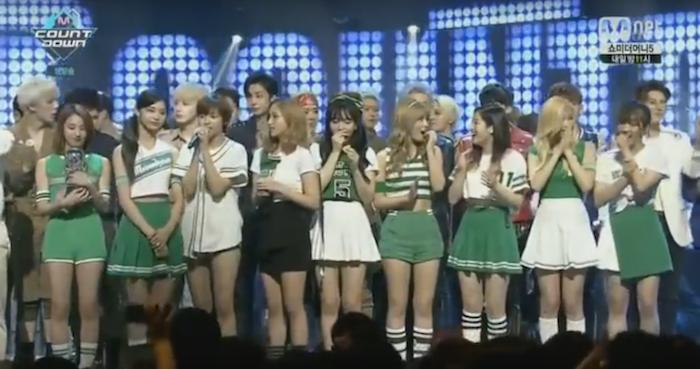 """TWICE toma su 7ma victoria con """"Cheer Up"""" en """"M!Countdown"""" – Presentaciones de Jonghyun, AOA y más"""